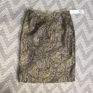 Paisley [ silk ] pencil skirt